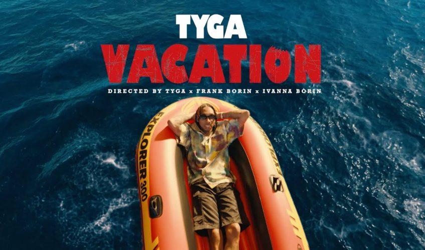 "O Tyga μόλις κυκλοφόρησε το νέο του single με τίτλο ""Vacation"", μέσω της Panik Records και της Sony Music."