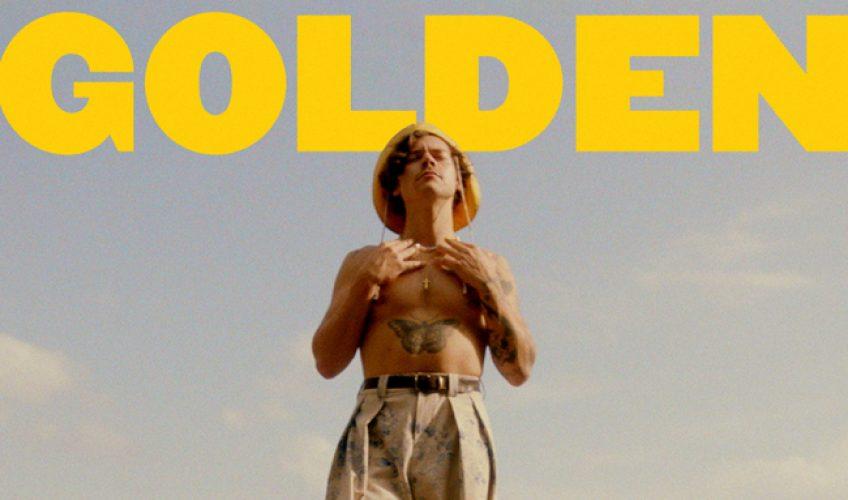 """Ο Harry Styles παρουσιάζει το επίσημο βίντεο κλιπ του νέου του single """"Golden""""."""