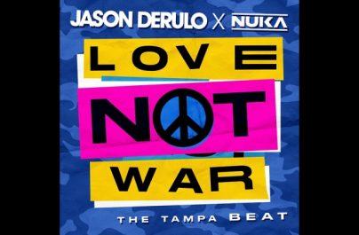"""Ο πολύ-πλατινένιος παγκόσμιος superstar Jason Derulo ενώνει τις δυνάμεις του με τον Nuka για την κυκλοφορία ενός ολοκαίνουριου single με τίτλο """"Love Not War (The Tampa Beat)."""