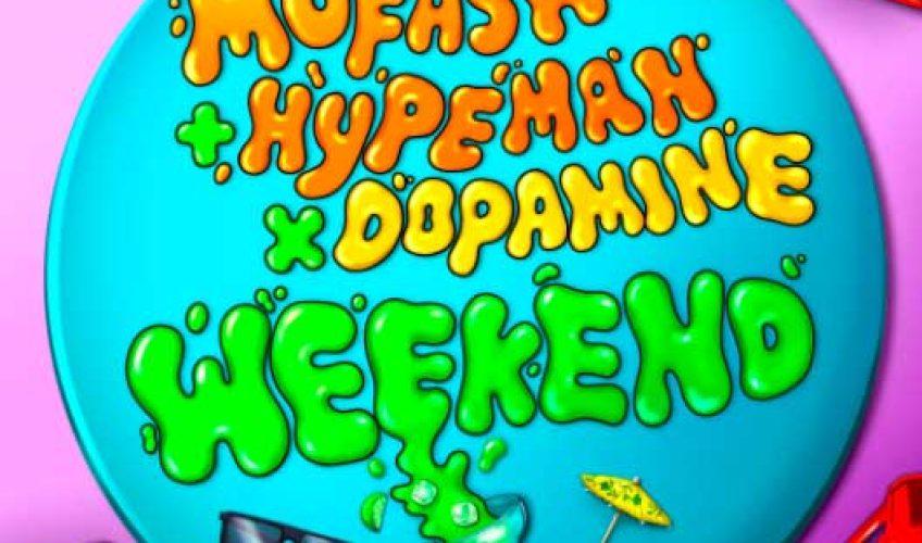 """Το επιτυχημένο ντουέτο Mufasa και Hypeman ενώνουν ξανά τις δυνάμεις τους με τους DJ και παραγωγούς Dopamine στο κορυφαίο single """"Weekend""""."""